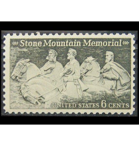 """США 1970 г. """"Барельеф """"Мемориал Конфедерации"""", Стоун-Маунтин"""""""