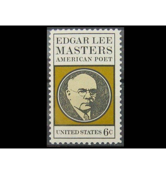 "США 1970 г. ""Эдгар Ли Мастерс, американский поэт"""