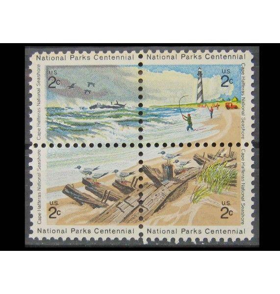 "США 1972 г. ""100-летие национальным паркам: Мыс Хаттерас"""