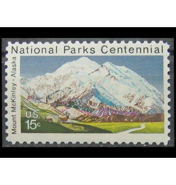 """США 1972 г. """"100 лет национальным паркам: Мак-Кинли парк"""""""