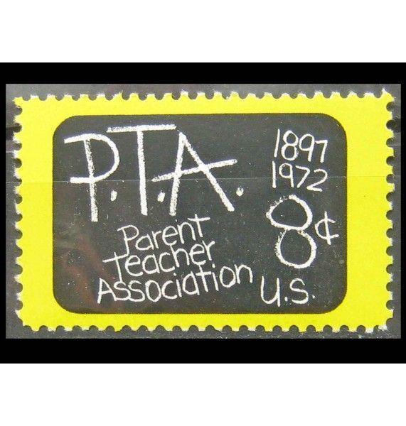 """США 1972 г. """"75 лет Ассоциации родителей и учителей"""""""