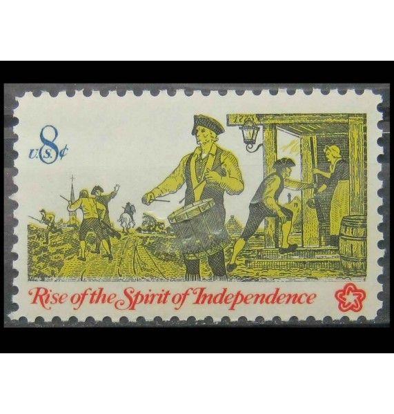 """США 1973 г.  """"200 лет независисмости США, барабанщик"""""""