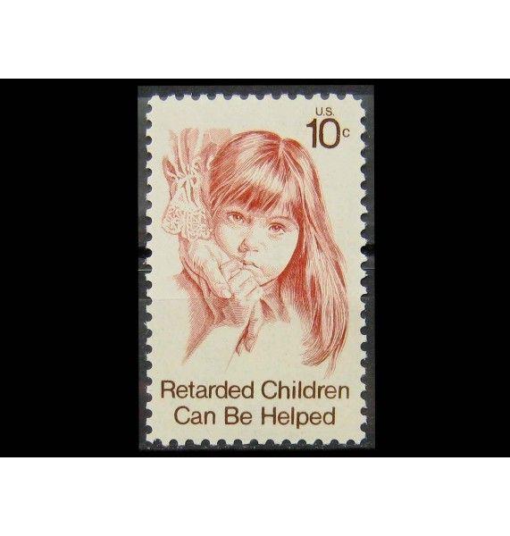 """США 1974 г. """"Помощь умственно отсталым детям"""""""
