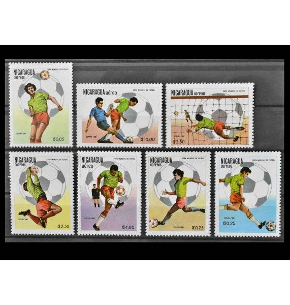 """Никарагуа 1982 г. """"Чемпионат мира по футболу 1982 г. в Испании"""""""