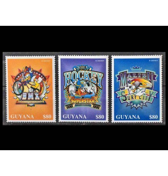 """Гайана 1996 г. """"Значок персонажей Уолт Диснея"""""""