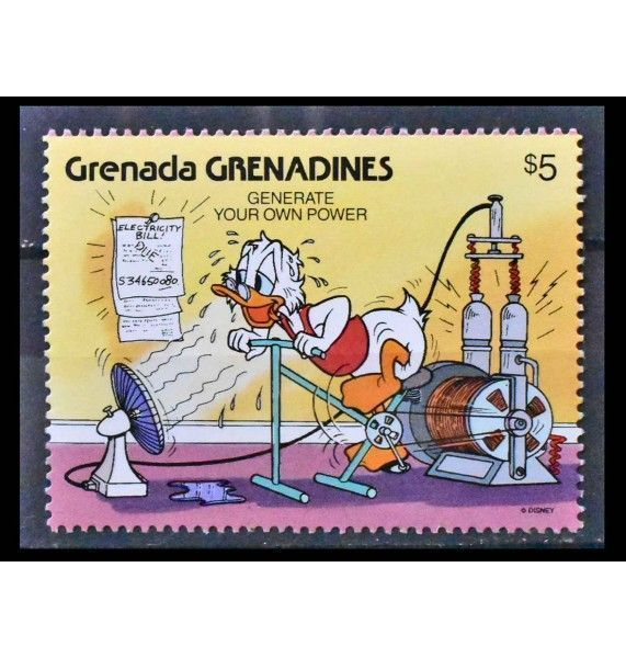 """Гренада и Гренадины 1991 г. """"Экология с персонажами Уолт Диснея"""""""