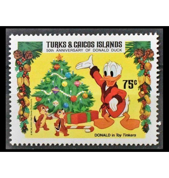 """Теркс и Кайкос 1984 г. """"Рождество: Персонажи Уолт Диснея"""""""