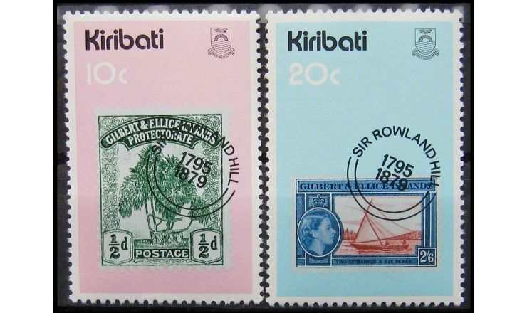 """Кирибати 1979 г. """"100-летие смерти Роуленда Хилла"""""""