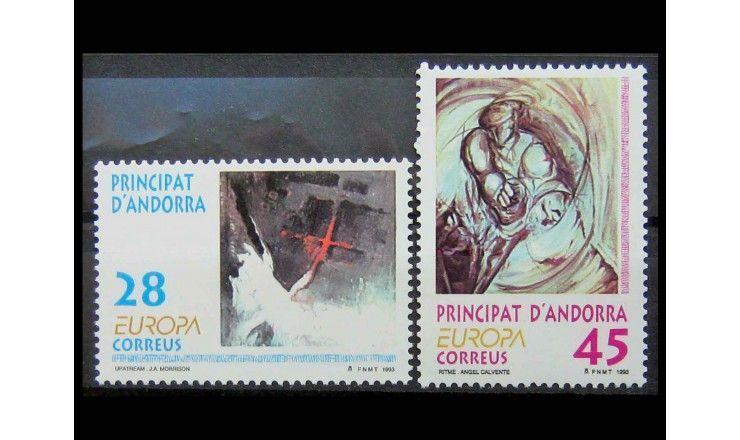 """Андорра (испанская) 1993 г. """"Европа: Современное искусство"""""""