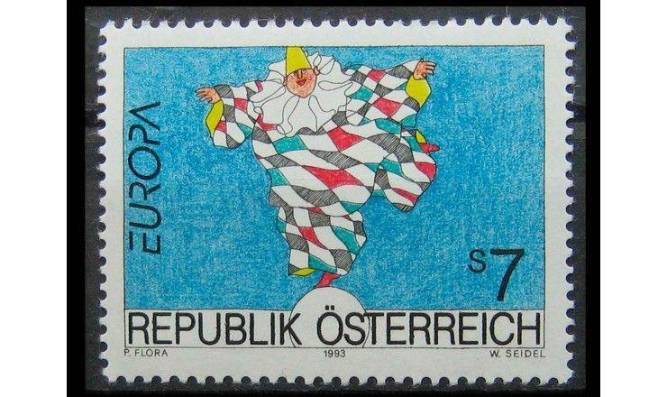 """Австрия 1993 г. """"Европа: Современное искусство"""""""