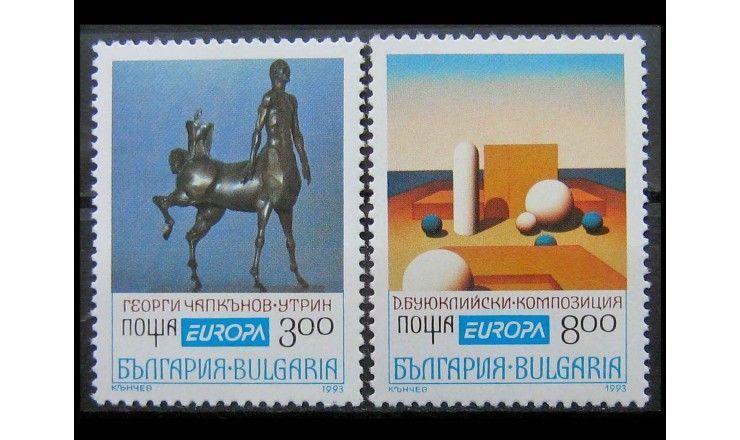 """Болгария 1993 г. """"Европа: Современное искусство"""""""
