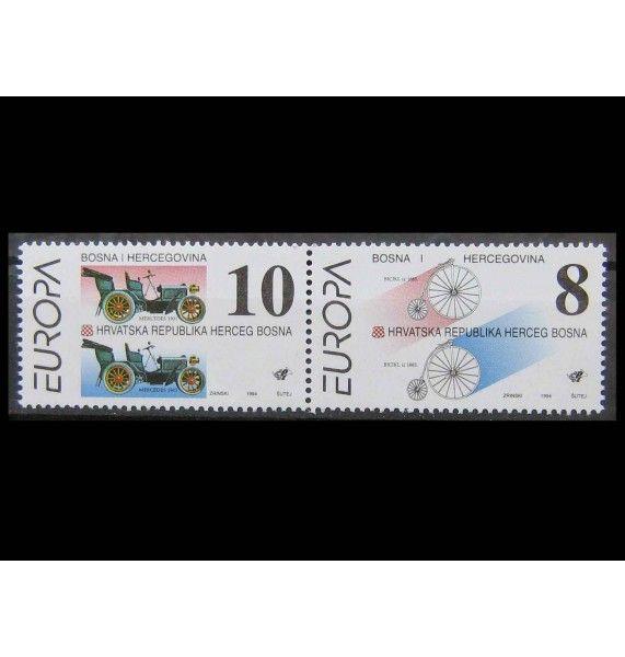 """Босния и Герцеговина - Хорватская администрация 1994 г. """"Европа: Открытия и изобретения"""""""
