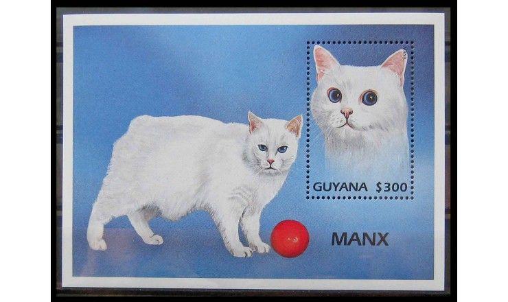 """Гайана 1997 г. """"Кошки"""""""