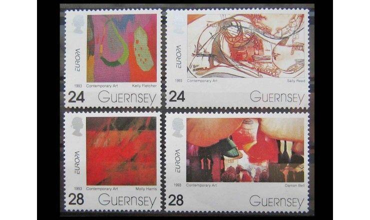 """Гернси 1993 г. """"Европа: Современное искусство"""""""