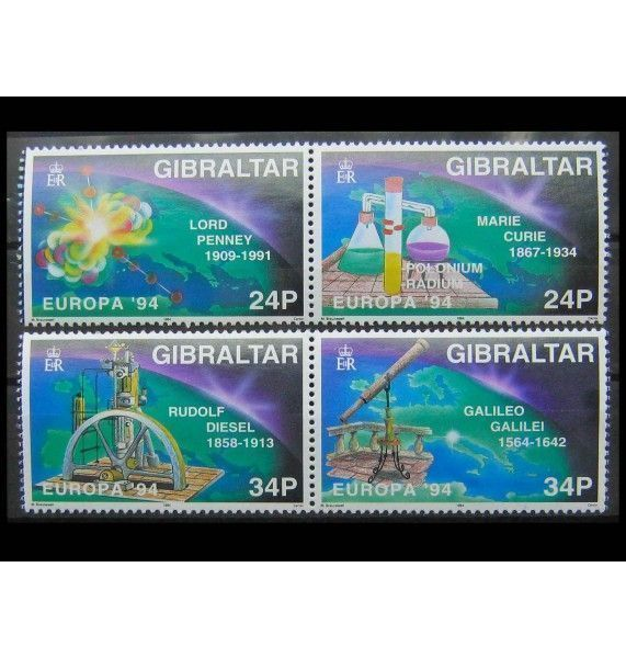 """Гибралтар 1994 г. """"Европа: Открытия и изобретения"""""""