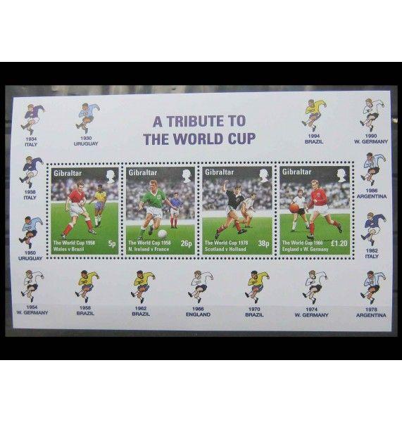 """Гибралтар 1998 г. """"Чемпионат мира по футболу, Франция"""""""