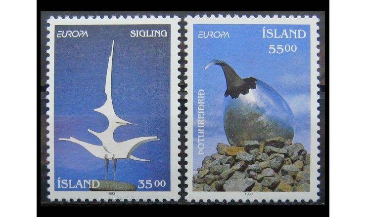 """Исландия 1993 г. """"Европа: Современное искусство"""""""