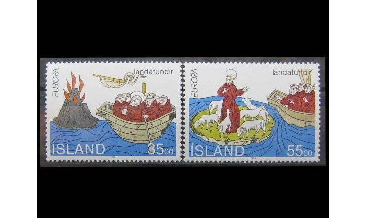 """Исландия 1994 г. """"Европа: Открытия и изобретения"""""""