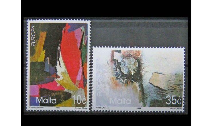 """Мальта 1993 г. """"Европа: Современное искусство"""""""