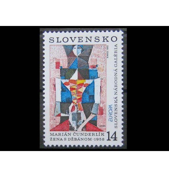 """Словакия 1993 г. """"Европа: Современное искусство"""""""