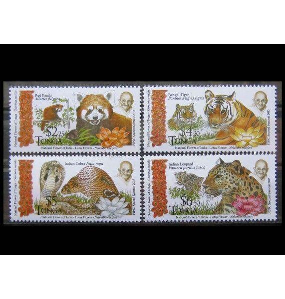 """Тонга 2016 г. """"Фауна Индии"""""""