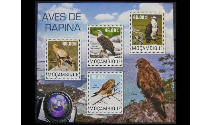 """Мозамбик 2014 г. """"Хищные птицы"""""""