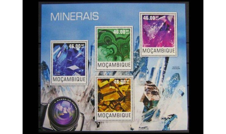 """Мозамбик 2014 г. """"Минералы"""""""