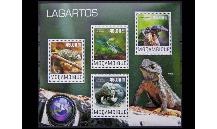 """Мозамбик 2014 г. """"Пресмыкающиеся"""""""