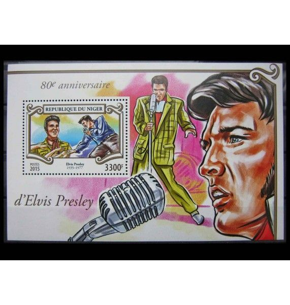 """Нигер 2015 г. """"80-летие со дня рождения Элвиса Пресли"""""""
