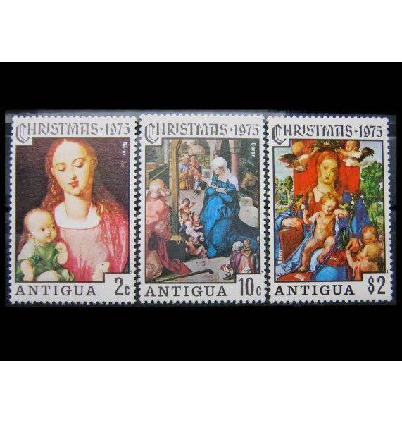 """Антигуа 1975 г. """"Рождество: Картины с Мадонной"""""""