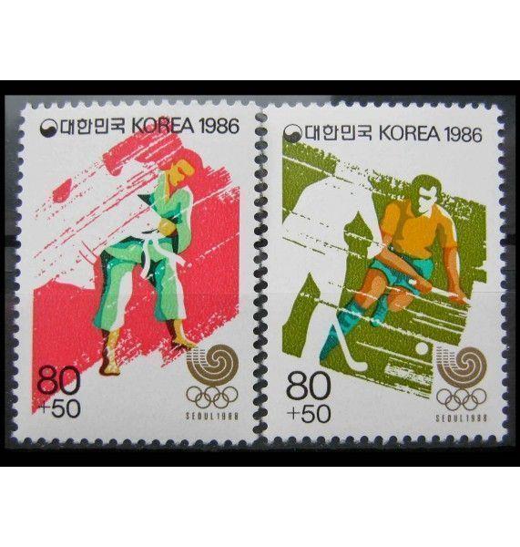 """Южная Корея 1986 г. """"Летние Олимпийские игры 1988, Сеул"""""""