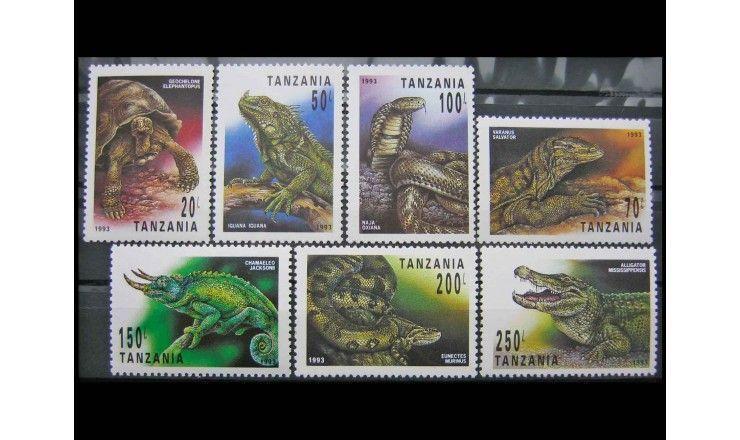 """Танзания 1993 г. """"Рептилии"""""""