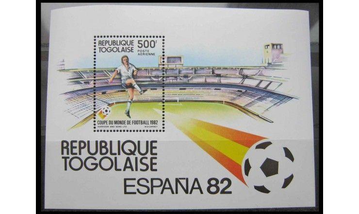 """Того 1982 г. """"Чемпионат мира по футболу, Испания"""""""