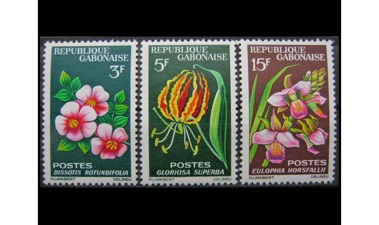 "Габон 1964 г. ""Стандартные марки: Цветы"""