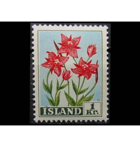 """Исландия 1958 г. """"Стандартные марки: Цветы"""""""