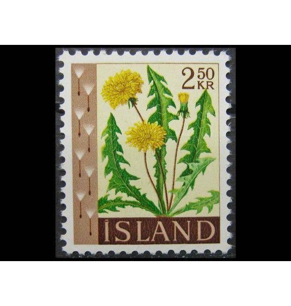 """Исландия 1960 г. """"Стандартные марки: Цветы"""""""