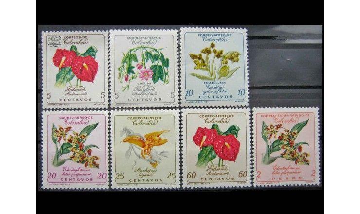 "Колумбия 1960/1962 г. ""Стандартные марки: Цветы"""