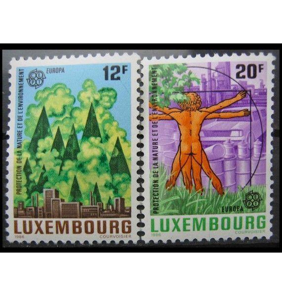 """Люксембург 1986 г. """"Европа: Природа и охрана окружающей среды"""""""