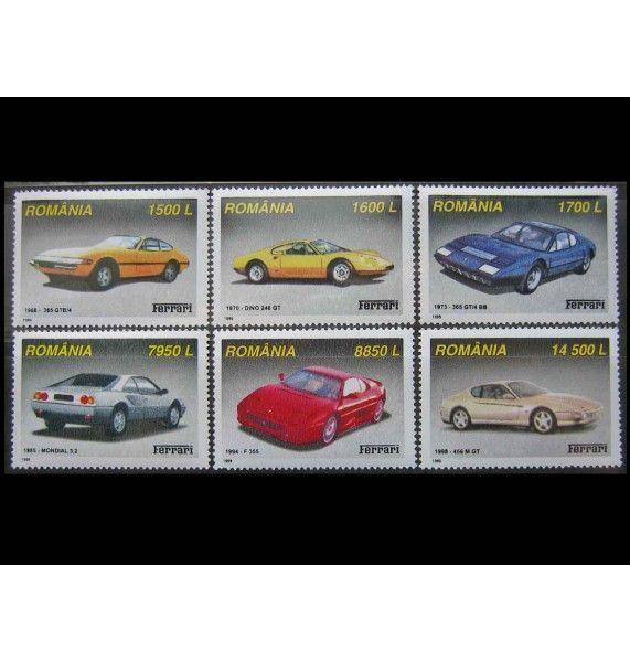 "Румыния 1999 г. ""Автомобили Феррари"""
