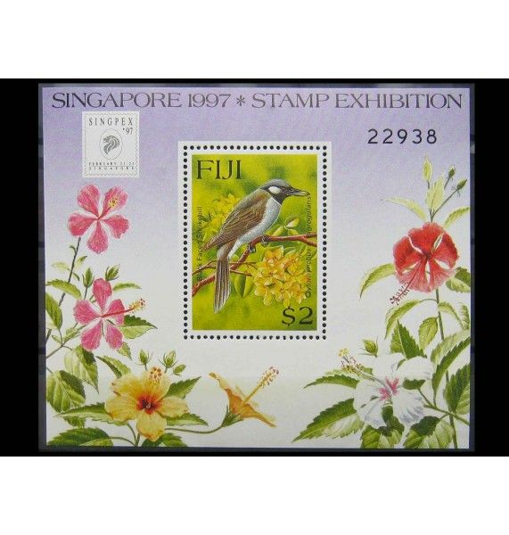 """Фиджи 1997 г. """"Международная выставка марок SINGPEX`97: Местная фауна"""""""