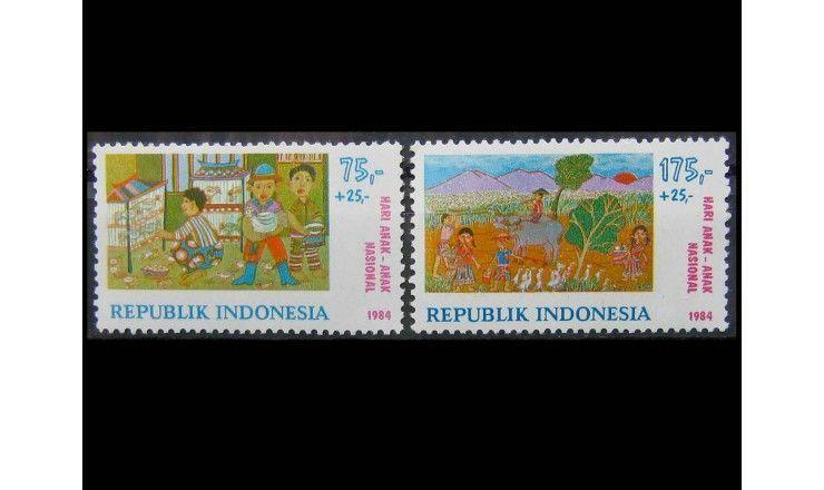 """Индонезия 1984 г. """"Международный день ребенка"""""""