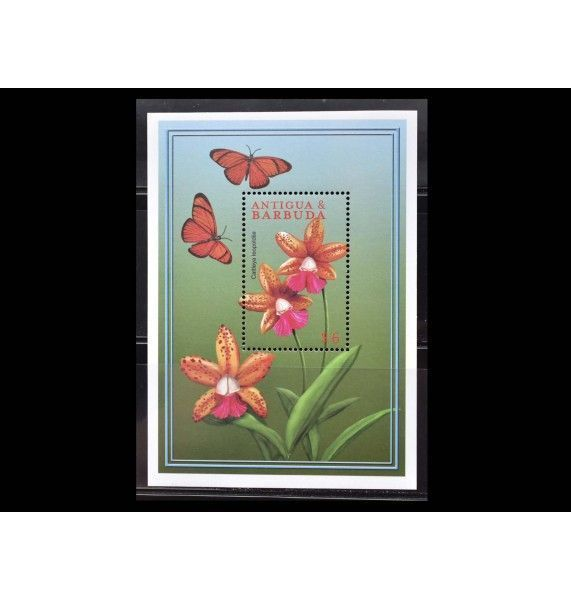 """Антигуа и Барбуда 2000 г. """"Цветы Карибского моря"""""""