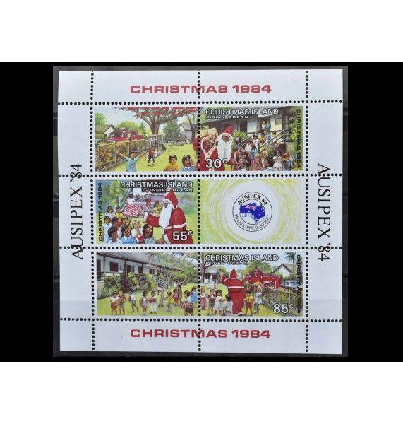 """Остров Рождества 1984 г. """"Рождество: Международная выставка марок AUSIPEX'84, Мельбурн"""""""