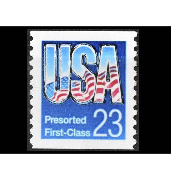 """США 1992 г. """"Стандартные марки: Флаги"""""""