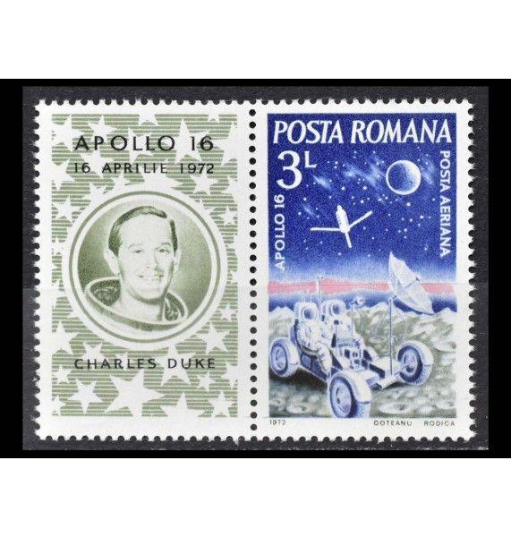"Румыния 1972 г. ""Апполон-16"" (с купоном)"