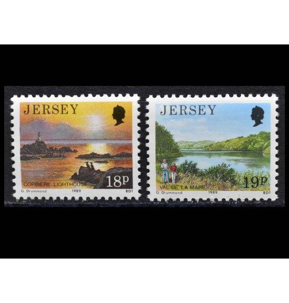 "Джерси 1989 г. ""Стандартные марки: Виды Джерси"""