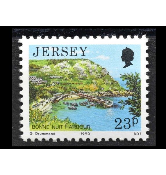 "Джерси 1990 г. ""Стандартные марки: Виды Джерси"""