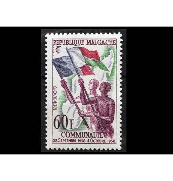 """Мадагаскар 1959 г. """"Провозглашение республики"""""""
