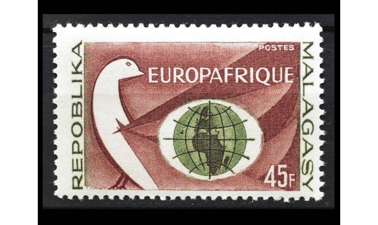 """Мадагаскар 1964 г. """"1-я годовщина подписания договора между ЕЭС и Союзом африканских государств"""""""