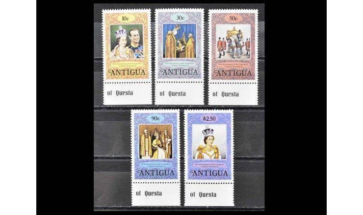 """Антигуа 1978 г. """"25 лет коронации Королевы Елизаветы II"""""""